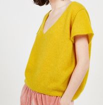 "American Vintage(アメリカンヴィンテージ) ニット・セーター ""American Vintage"" WOMEN'S JUMPER UGOBALL YELLOW"