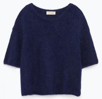 "American Vintage(アメリカンヴィンテージ) ニット・セーター ""American Vintage"" WOMEN'S JUMPER MIRABUG NAVY"