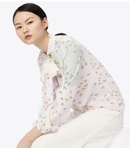 Tory Burch PATCHWORK BOW BLOUSE