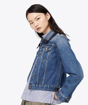 Tory Burch EMBROIDERED DENIM JACKET