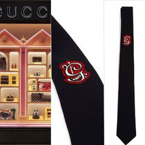 【VIP価格購入】GUCCI  Tie in Silk and Wool with G