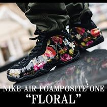 "NIKE AIR FOAMPOSITE ONE ""FLORAL"" BLACK エアフォームポジット"