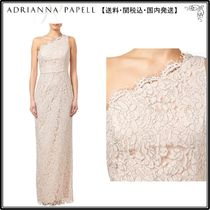 【海外限定】AdriannaPapellドレス☆One Shoulder Lace Column D