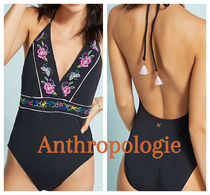 Anthropologie♡花柄刺繍  One-Piece Swimsuit