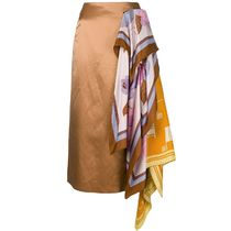 SALE!!【Dries Van Noten】scarf detail skirt
