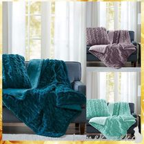 【MADISON PARK】Madison Park Ruched Faux Fur Throw