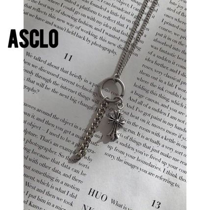 ASCLO ネックレス・チョーカー [送料込] ASCLO◆Cross Necklace (2color)_韓国発