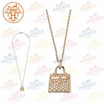 19SS《HERMES》Amulette Kelly ペンダント ピンクゴールド