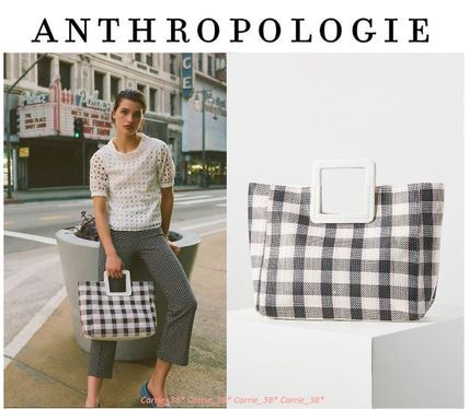 【大人気】Anthropologie*Nadia Woven ToteBag*チェック柄トート