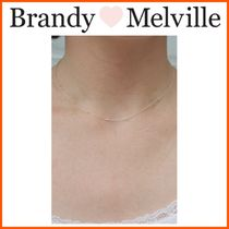 NEW!! ☆Brandy Melville☆ MINI SILVER BEADED NECKLACE