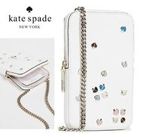 【Kate Spade】エナメルスペード クロスボディ ポーチ