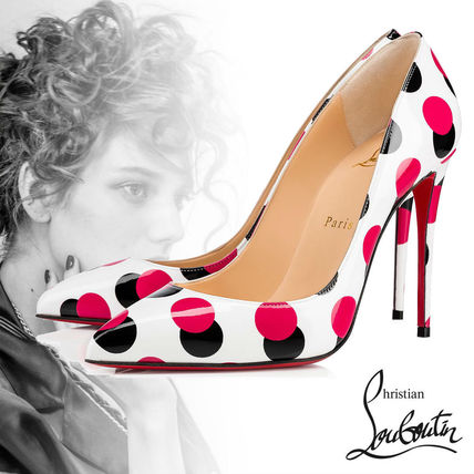super populaire 5a8da 415fd Christian Louboutin Pigalle Follies Vernis ドット パンプス