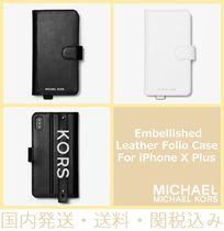 【セール/国内発送】Embellished Leather Folio iPhone X Plus