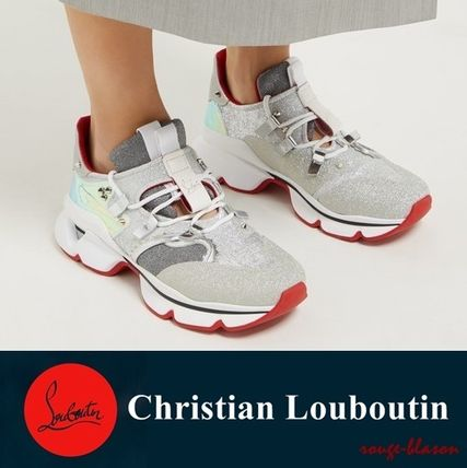 0911790fbcbb Christian Louboutin スニーカー  国内発送 ルブタン スニーカー Red Runner lame trainers ...