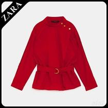 セール対象品♪ZARA BELTED BLOUSE WITH BUTTONS