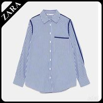 セール対象品♪ZARA STRIPED SHIRT WITH TRIMS