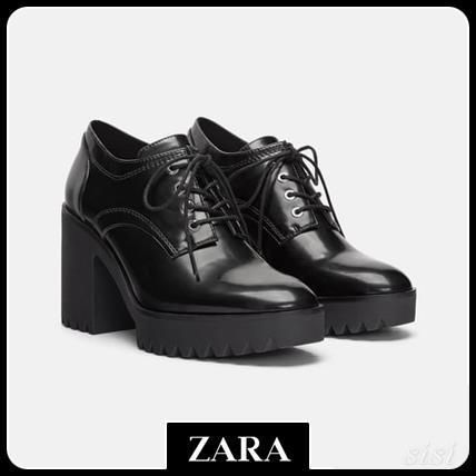 セール対象品♪ZARA TRACK SOLE HIGH-HEEL DERBY SHOES