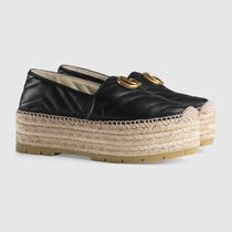 *19SS*【Gucci】Leather espadrille with Double G関税込