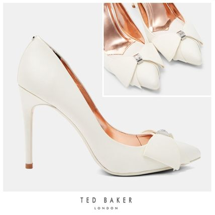 UK発☆Ted Baker☆リボンの パンプス☆ASELLYS☆アイボリー