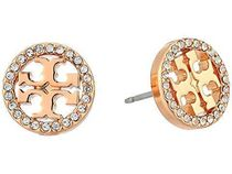 ★Tory Burch★Crystal Logo Circle-Stud Earrings 送料関税込★