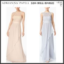 【海外限定】AdriannaPapellガウン☆Lace Illusion Halter Gown