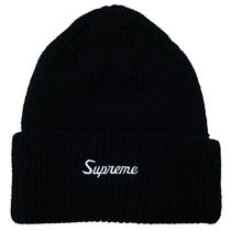 18AW Supreme Loose Gauge Beanie Navy 紺 ビーニー ニット帽