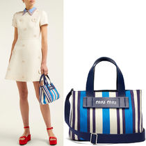 MM792 CANVAS & LEATHER SHOPPER TOTE