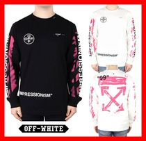 関税負担★人気【Off-White】★DIAGONAL STENCIL T-SHIRTS★2色