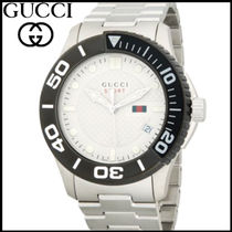 【GUCCI】国内発 19SS★ Logo Stainless Steel メンズ腕時計