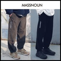 ☆MASSNOUN☆ SL LOGO POCKET CORDUROY STRING PANTS 2色