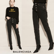 VIP価格【BALENCIAGA】Black high-waist tube jeans 関税込