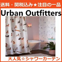 Urban Outfitters 魅せるシャワーカーテン 水着美人柄 白 綿100%