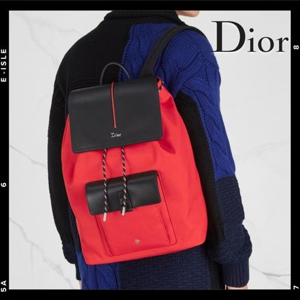 DIOR HOMME バックパック・リュック  Dior Homme Motion leather-trimmed canvas backpack  ... 21755be59f865
