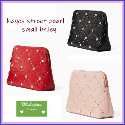 【kate spade】最終SALE★パールが素敵♪ ポーチ small briley★