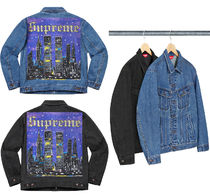 SUPREME19SS★New York Painted Trucker Jacket