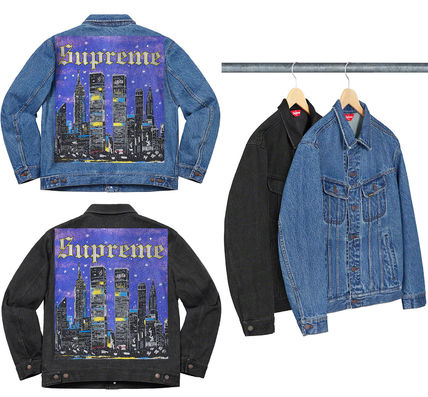 311061f67 SUPREME19SS★New York Painted Trucker Jacket