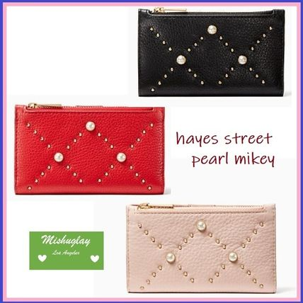 【kate spade】最終SALE★パールが素敵♪コンパクト財布 mikey★