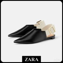 ★ZARA TRF★  FLAT SLINGBACK SHOES WITH MAXI BUCKLE