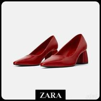 ★ZARA TRF★  BLOCK-HEEL SHOES