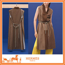 ☆HERMES☆ エルメス Gilet long finition maille ジレ