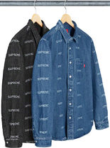 SUPREME19SS★Logo Denim Shirt