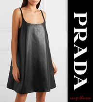 【国内発送】PRADA Reversible leather mini dress