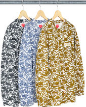 SUPREME19SS★Damask L/S Top