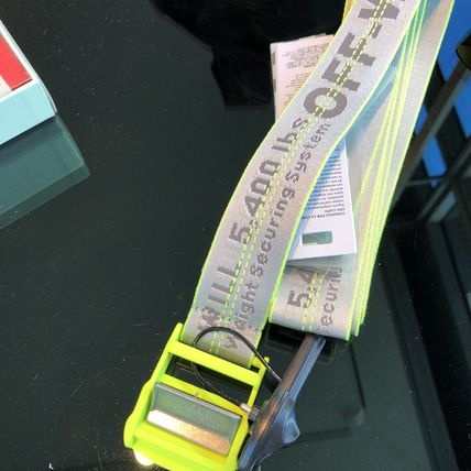 【Off-White】19SS INDUSTRIAL BELT (Fluo Yellow No Color)