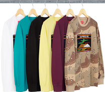 SUPREME19SS★Needlepoint Patch L/S Top