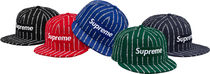 Supreme 19SS Text Stripe New Era キャップ ニューエラ