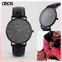 【ASOS】watch in black with patent strap