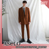ASCLO★韓国の人気★LOOSE FIT  SUIT SET_BROWN