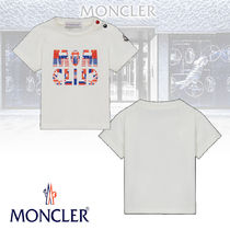 【MONCLER】T-SHIRT フラッグ ロゴ プリント ベビー用 Tシャツ