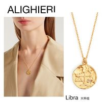 ALIGHIERI(アリギエーリ) ネックレス・ペンダント 【12星座 ペンダント】Libra gold-plated necklace / 天秤座